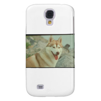Red Siberian Husky Galaxy S4 Covers