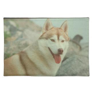 Red Siberian Husky Dog Placemat
