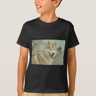 Red Siberian Husky T-Shirt