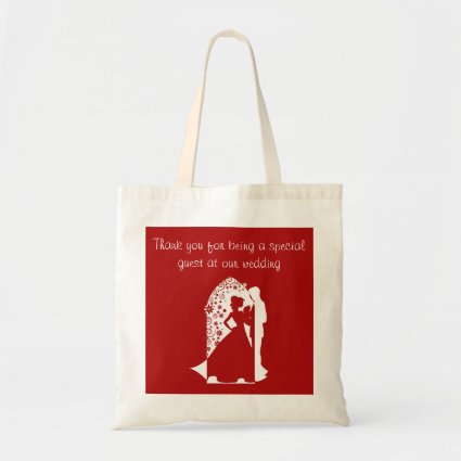 Red Silhouette Wedding Bag
