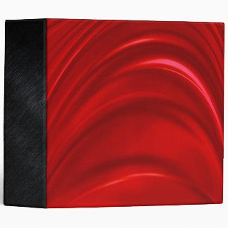 Red Silk 3 Ring Binder