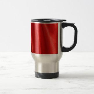 Red silk background travel mug