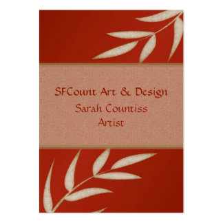 Red Silk Customizable Business Cards