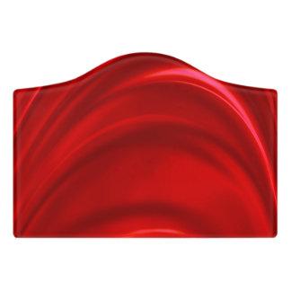 Red Silk Door Sign