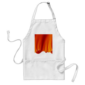 Red Silk Drapes Adult Apron