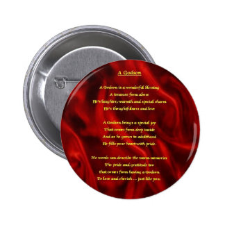 Red Silk - godson poem 2 Inch Round Button