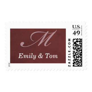 Red silk postage stamp