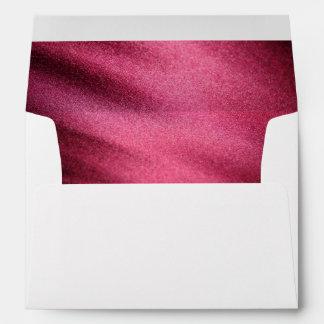 Red Silk Satin Envelope