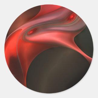 Red Silk Classic Round Sticker