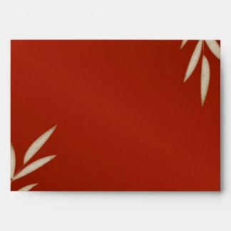 Red Silk Wedding Invitation Envelope