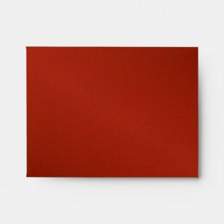 Red Silk Wedding RSVP Card Envelope