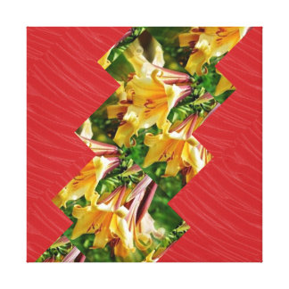 Red Silken Fabric ARTISTIC Strips: NOVINO Graphics Canvas Print