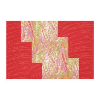 Red Silken Fabric LINE ART Strips: NOVINO Graphics Canvas Print