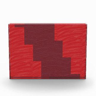 RED SILKEN FABRIC PRINT n ARTSTRIP STRIP Acrylic Award
