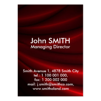 Red Silky Background Business Cards
