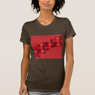 Red silky pattern ACROSS STEP GRAPHIC ART MULTI IM Shirts
