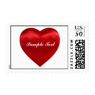 Red Silky Satin Heart Postage