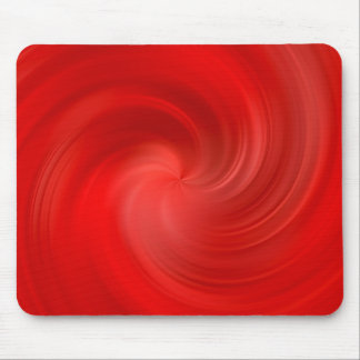 red silky swirl mouse pad
