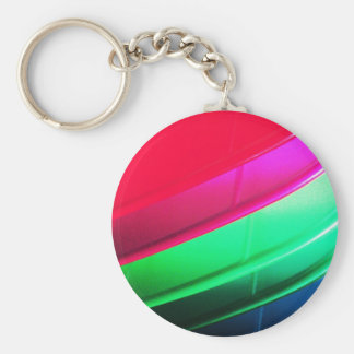 Red Silky Waves Shine Digital Bright  Pink Rusty A Keychain