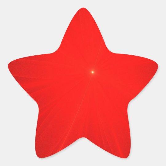 Red Silky Waves Shine Digital Bright  Pink Rusty A Star Sticker