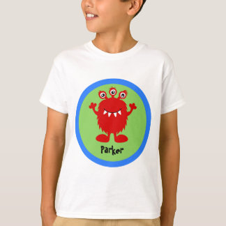 Red Silly Monster Personalized T-Shirt