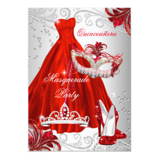 Red Quinceanera Invitations Announcements Zazzle