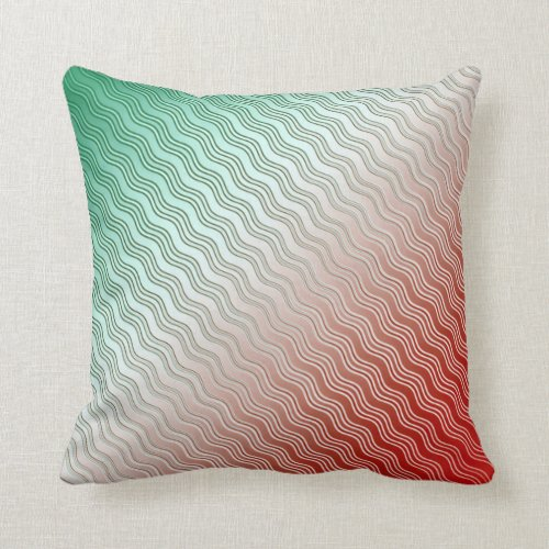 Red Silver Green Throw Pillow