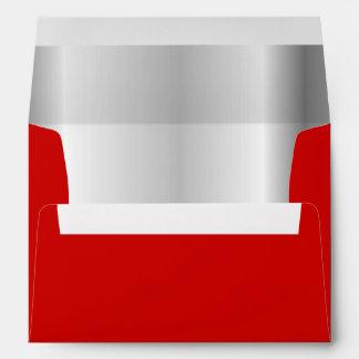 Red Silver Inner Envelope