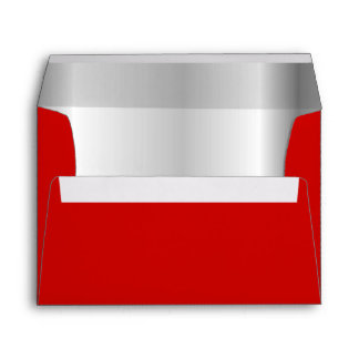 Red Silver Inner Envelope