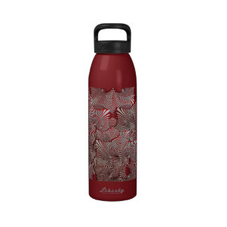 Red/Silver Lines Cranberry Liberty Bottle Water Bottles