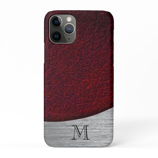 Red & Silver  Monogrammed iPhone 11 Pro Case