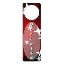 Red Silver Stars Custom Door Hanger