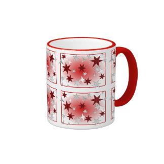 Red Silver Stars Mug