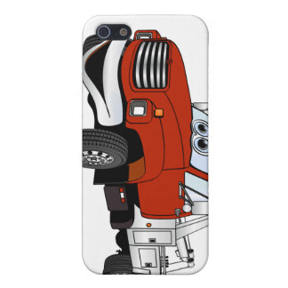 Red Silver Tow Truck Cartoon Case For iPhone 5