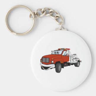 Red Silver Tow Truck Cartoon Keychain