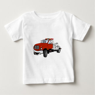 Red Silver Tow Truck Cartoon Tshirts
