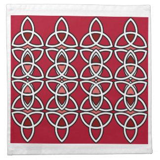 Red & Silver Triquetra Napkins Set