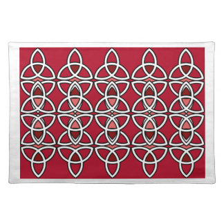 Red & Silver Triquetra Place Mat