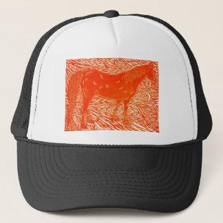 Red Silver Trucker Hat