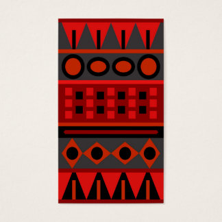 RED SIMPLE (pattern design) standard vertical ~ Business Card