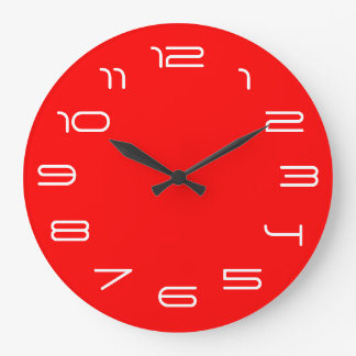 Red simplicity large clock