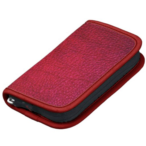 Red Simulated Leather Organizer