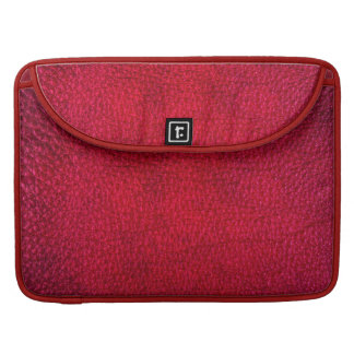Red Simulated Leather Sleeve For MacBook Pro