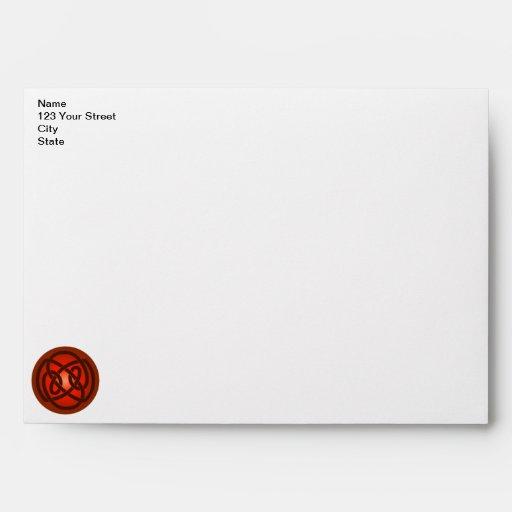 Red Single Loop Knot Envelope
