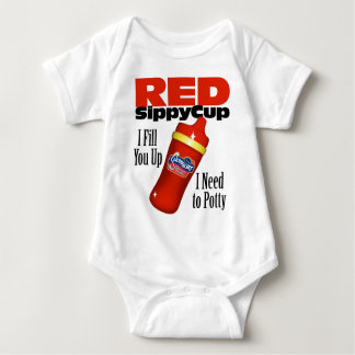 Red Sippy Cup Infant Creeper