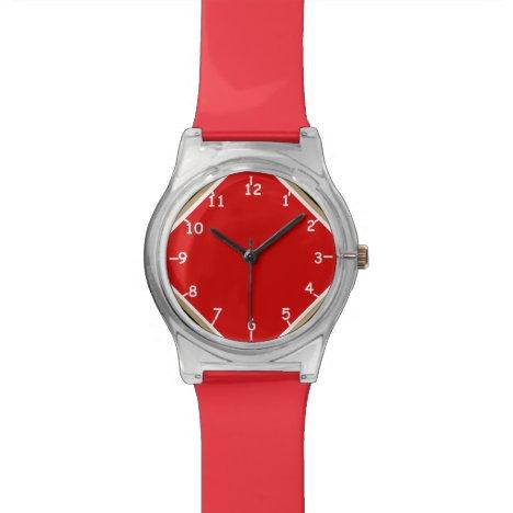 Red Sisco Four Corners Wristwatch