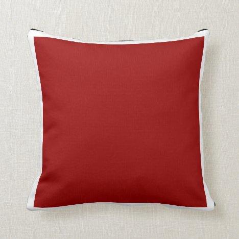 Red Sisco Throw Pillow
