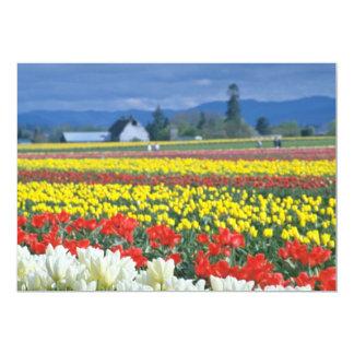 "Red Skagit Valley, Mount Rainier, Washington, USA 5"" X 7"" Invitation Card"