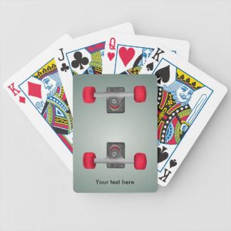 Red Skateboad Wheels Bicycle Playing Cards