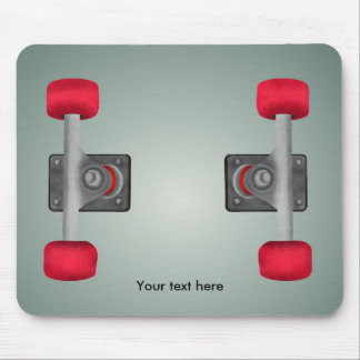 Red Skateboad Wheels Mouse Pad